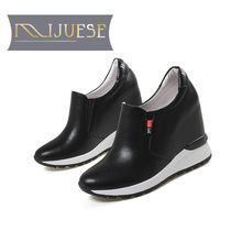 MLJUESE 2018 women pumps cow leather red bottom increased Internal high  heels platform pumps boat shoes sport sneakers ac7d27a182b7