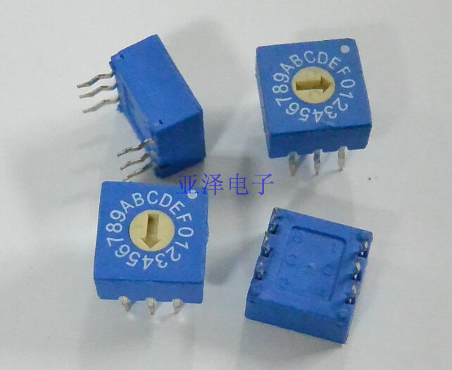 Taiwan producing 0-F rotary encoder switch DIP switch 16 n Code 8421C PCB coding switch 3 : 3