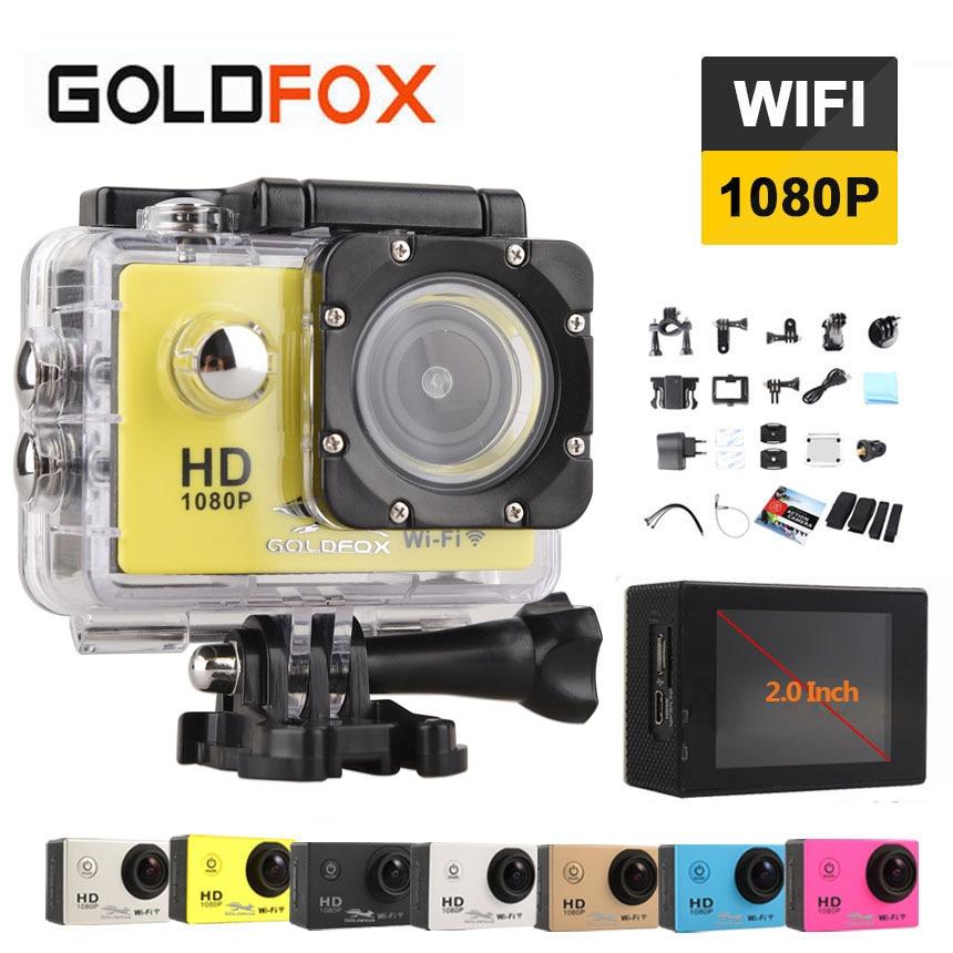 GOLDFOX W8 Wifi Action Camera Sports DV 2.0 inch Diving 30M Waterproof HD 1080P 12MP Extreme Helmet mini Camcorder SJ 4000 Cam