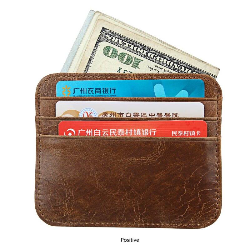Manywe Rfid bloquant en cuir véritable petite banque ID entreprise crédit hommes porte-carte 10 PCS/LOT