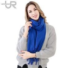 Newest 60cm*200cm Women Scarf Female Warm Winter Scarf Top Quality Simple Fashion Solid Scarves Long And Big Scarf