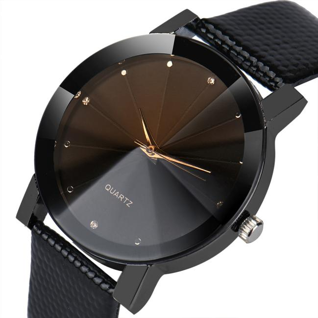 2019 New Men Quartz Dial Clock Leather Wrist Watch Round Case Luxury Sport Military Stainless Steel Band Silver 12-hour Dial