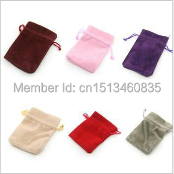 100pcs/lot CBRL velvet drawstring jewelry bag/pouch for toiletry/camera,Size can be customized,Various colors,wholesale