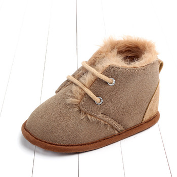 2020 Baby Girls Boys Winter Keep Warm Shoes First Walkers Sneakers Kids Crib Infant Toddler Footwear Boots Newborns Prewalkers - Dark Brown, 0-6 Months