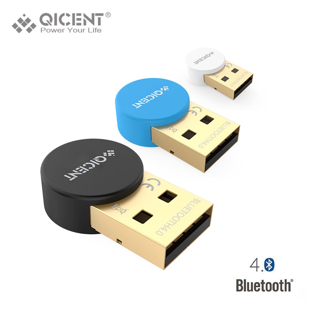 qicent plugable usb bluetooth 4 0 low energy adapter for pc wireless dongle keyboard mouse. Black Bedroom Furniture Sets. Home Design Ideas