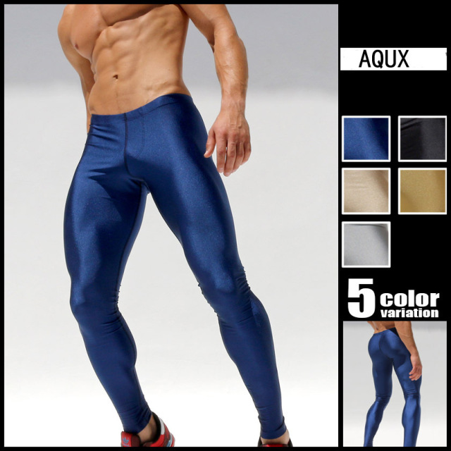 2016 New Mens Sport Long Sexytight Pants Gym Ankle Length Pants Penis Male Athletic -8701