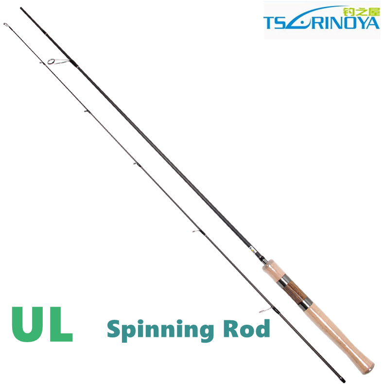 Free shipping trulinoya ul spinning rod 2 section for Light fishing rods