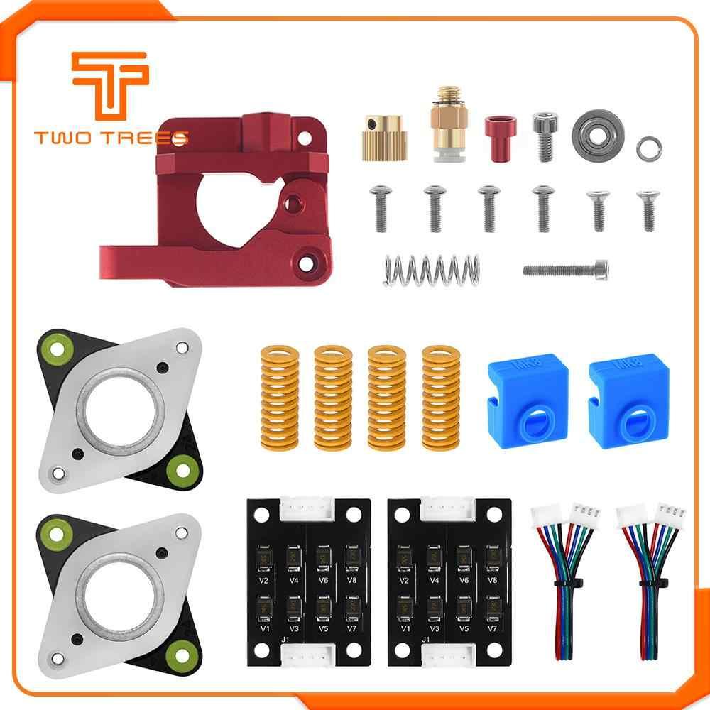 Dua Pohon 3D Printer MK8 Extruder Upgrade Kit Spring Extruder Kaus Kaki Tabung Stepper Peredam Halus untuk Ender 3 CR10 CR-10S printer
