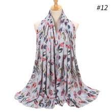 New Bubble Chiffon Hijab Scarf Design Flower Shawls 43 COLORS