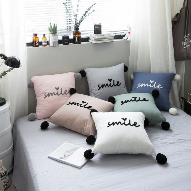 New Sweet Girl Korean style Cute Cotton Decorative Body Pillow Square Christmas Pillow Gift
