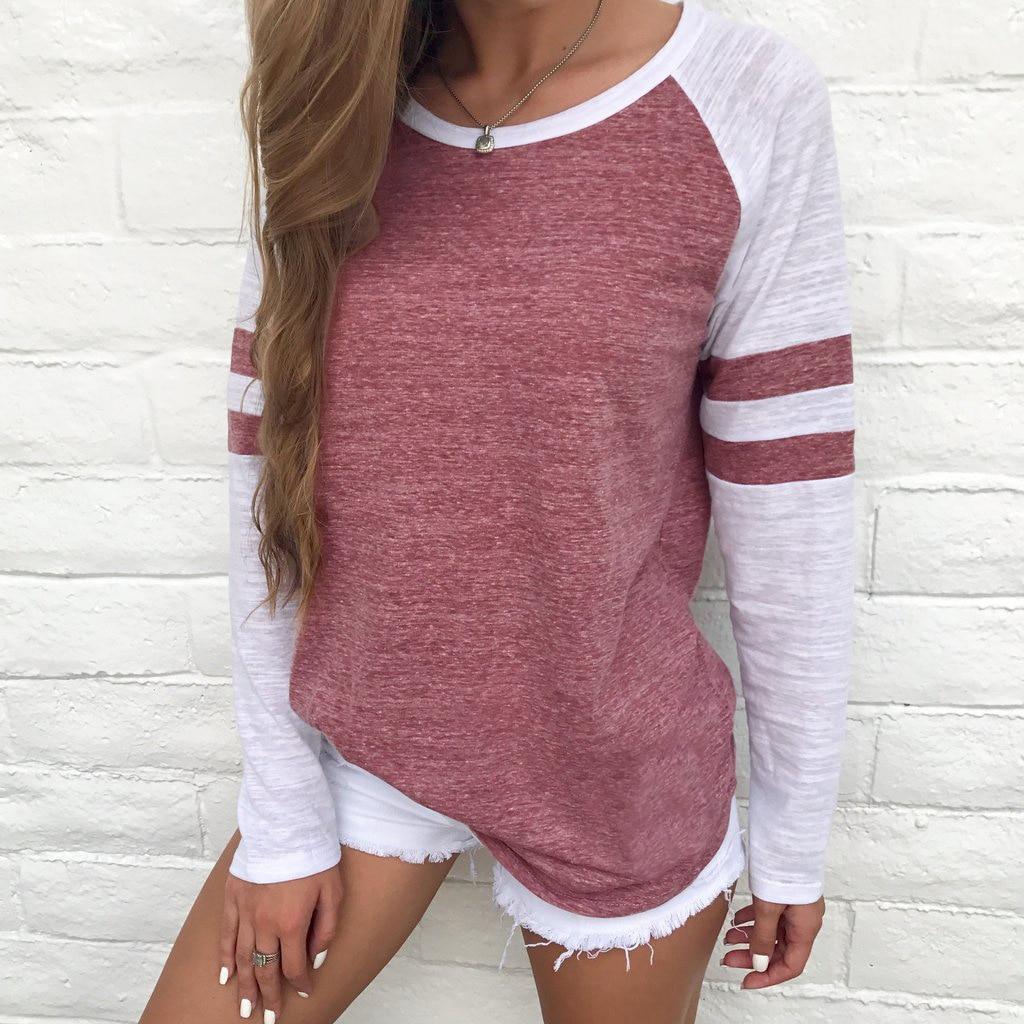 Large Size 2019 New Fashion Spring Autumn Women Striped Tshirt O Neck Loose Long Sleeve Tops T Shirt Plus Size Clothing Ladies