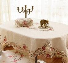 Большие размеры овальные hand made вышитая скатерть покрытие стола высокого качества китайский скатерть с пайетками ткань свадебного стола