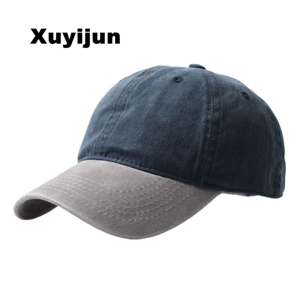 XUYIJUN Bones Washed Denim Snapback Hats Autumn Summer Men Women Baseball Cap Golf Sunblock Beisbol Casquette Hockey Caps
