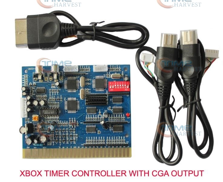 2pcs XBOX CGA timer board CGA from JAMMA play games by timer PCB for Coin operated CGA CRT monitor arcade machine game cabinet