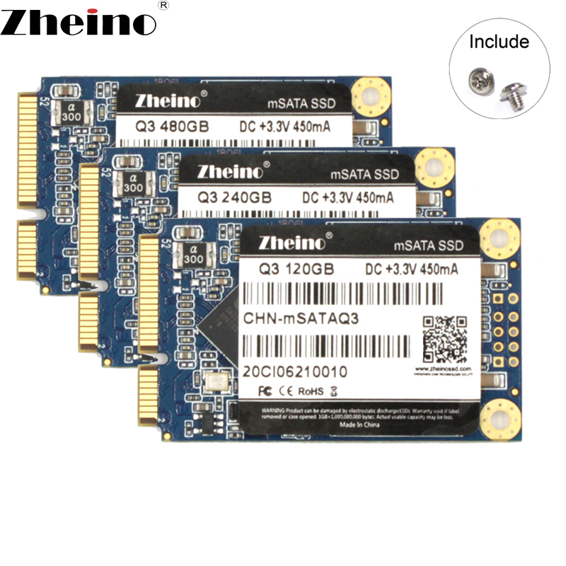 Zheino Mini mSATA SSD 120GB 240GB 480GB 128GB 256GB 512GB 6GB/S Internal Solid State Drive For Laptop Desktop
