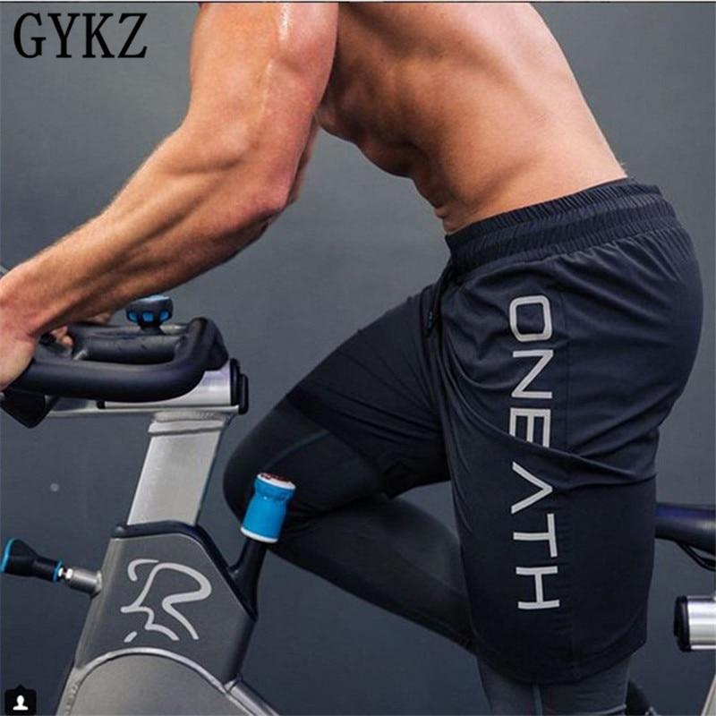 GYKZ Fashion Men Sporting Beaching Shorts Trousers Cotton Bodybuilding Sweatpants Fitness Short Jogger Casual Gyms Men Shorts