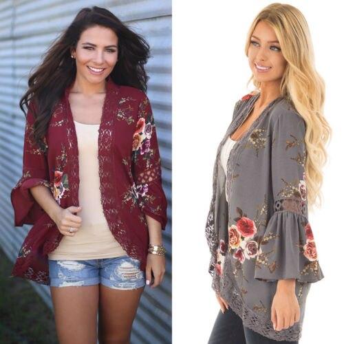 2017 Women Basic jackets Coats Cardigan print irregular knit sweater jackets autumn fashion sexy lady Slim jacket women coat