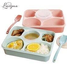LMETJMA 5 más 1 Cajas de Almuerzo Contenedores Sellados Con Compartimiento de Cajas de Almuerzo Para Niños Almuerzo Escolar Japonés Boxs KCBII012002