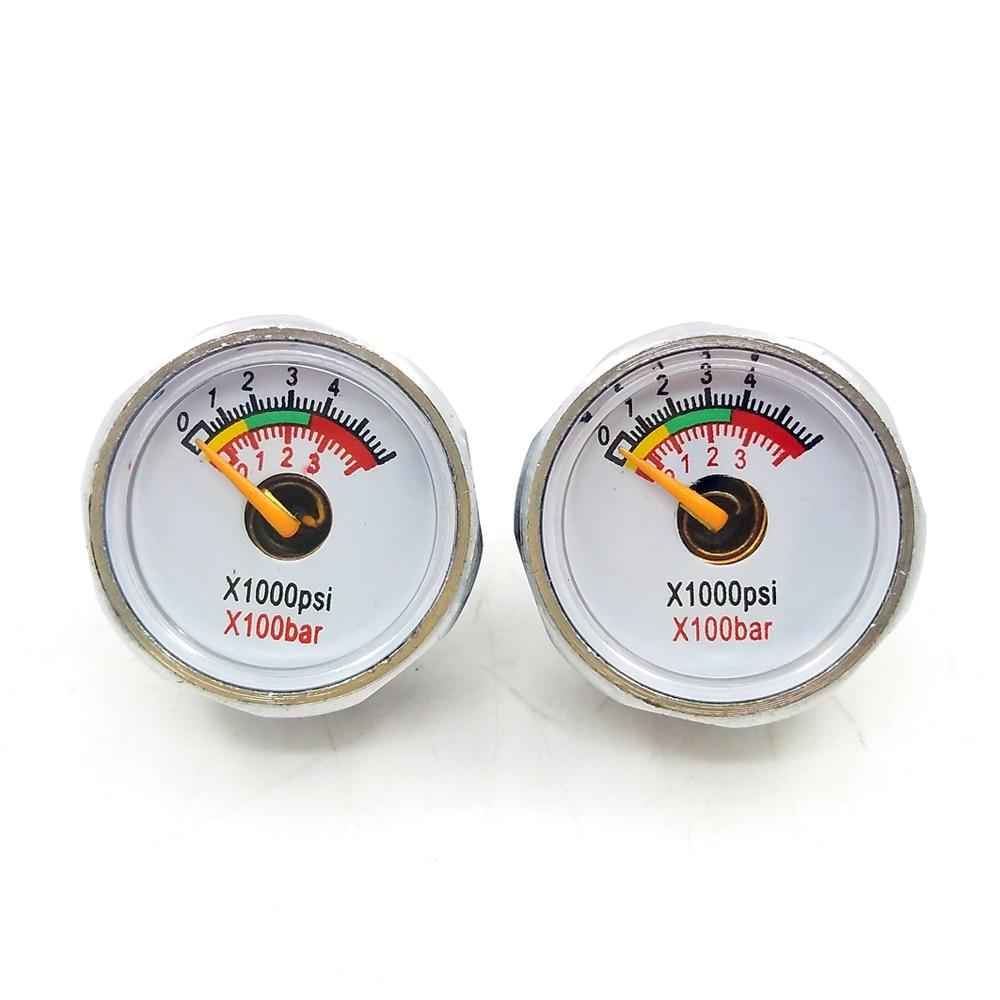 3800psi/250bar 2pcs Double Range PCP Paintball Air Pressure Gauge Mini Micro Manometer M8 Threads
