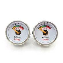 3800psi/250bar 2pcs 이중 범위 pcp 페인트 볼 공기 압력 게이지 미니 마이크로 압력계 m8 스레드