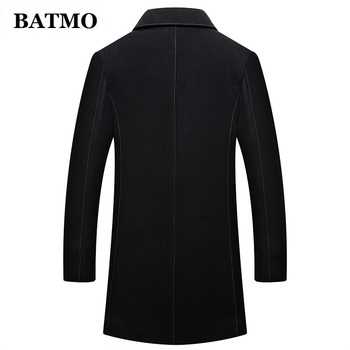 BATMO 2018 new arrival winter high quality wool thicked trench coat men,men's winter parkas,plus-size M-4XL 8870