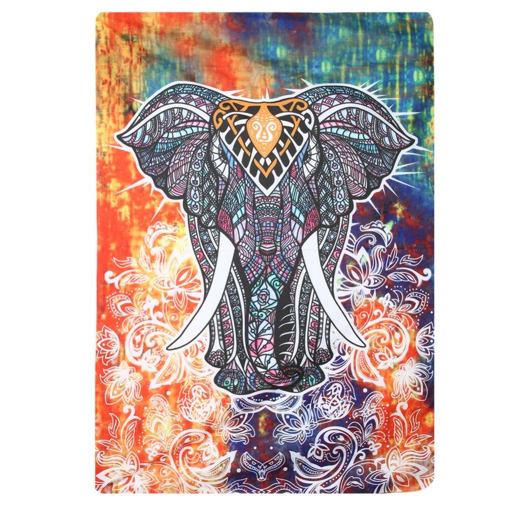 Elefanten Tapisserie Farbige Gedruckt Dekorative Mandala Tapisserie
