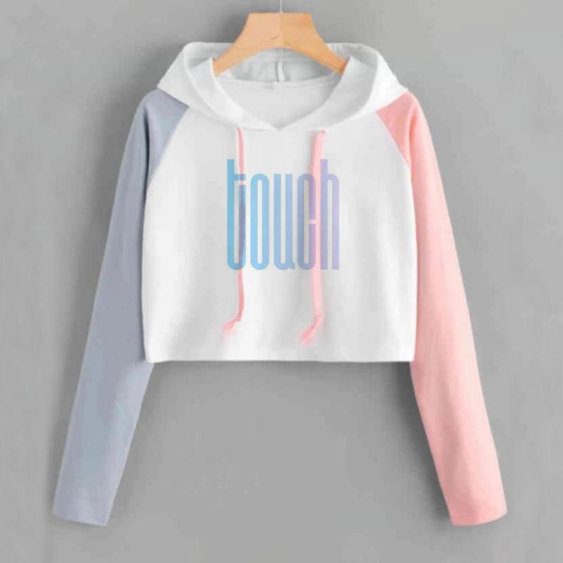 Kpop NCT 127 NCT127 U Album Crop Hoodie K-POP Casual Cotton Hoodies Clothes Pullover Printed Long Sleeve Cropped Sweatshirts