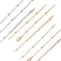 Superior de La Manera de Cobre Chapado En Oro Cadena de La Bola de Collar Colgante de Monedas de Plata 45 cm-80 cm 10 unids/lote