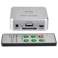 3.5mm Music Digitizer Analog Music to MP3 Audio Capture Recorder Converter Support USB Drive SD Card SD998