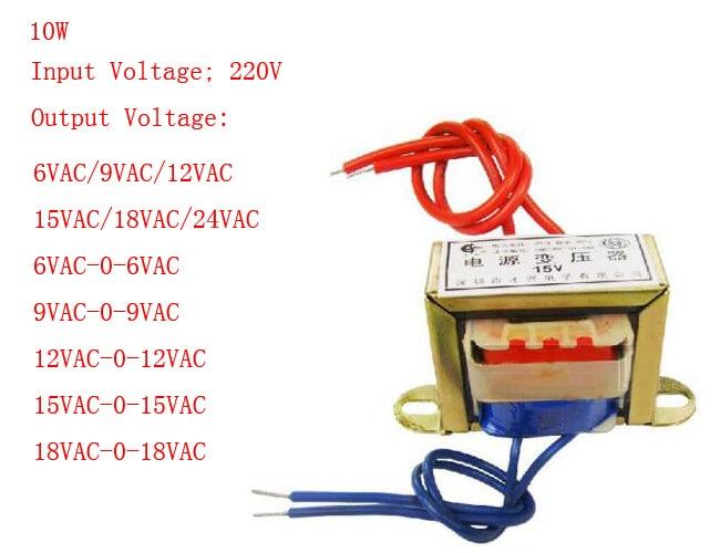 10W EI Ferrite Core Input 220V 50Hz Vertical Mount Electric Power Transformer Output Voltage Single/Doubel 6V 9V 12V 15V 18V 24V10W EI Ferrite Core Input 220V 50Hz Vertical Mount Electric Power Transformer Output Voltage Single/Doubel 6V 9V 12V 15V 18V 24V