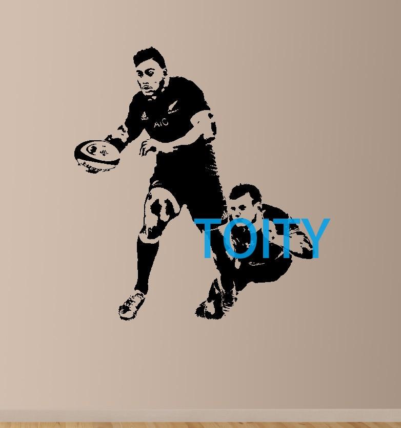 Julian Savea Wall Art Giant Sticker Mural Vinyl Decal Graphic New Zealand  Rugby Player Poster Decor 0aac300d0f66