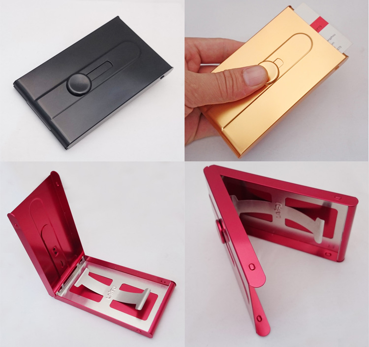 Tuhao gold card box business men automatic business card holder ...