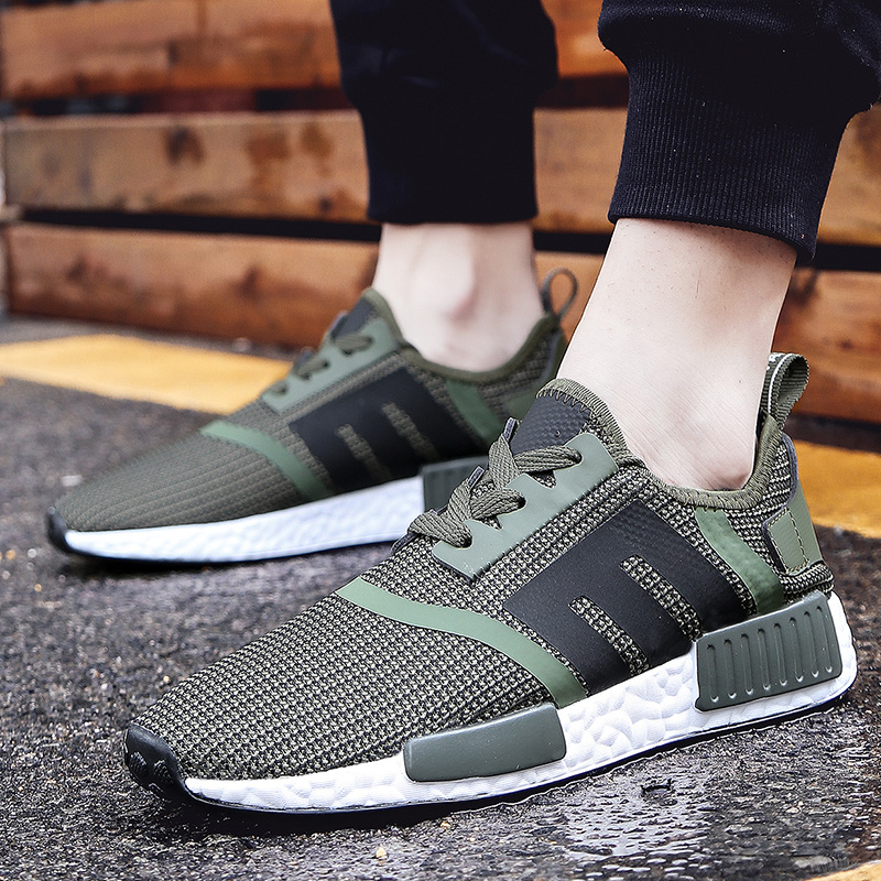 2018 Mens Trail Running Shoes For Men Breathable Sport Shoes Light Weight Outdoor Military Camouflage Walking Shoes Army Green