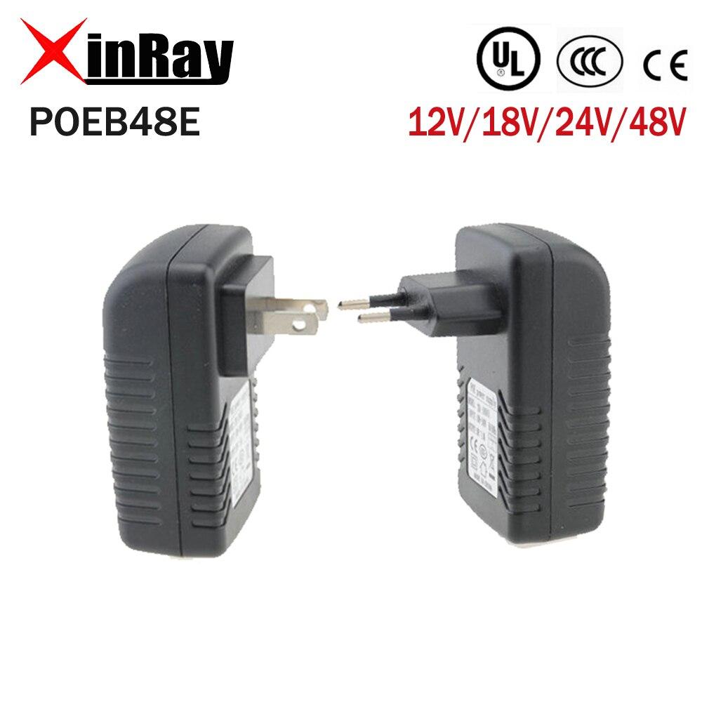 XinRay Qualität POE Injektor für CCTV POE IP Kamera USA oder EU Power Over Ethernet Injektor DC Ausgang POE Ethernet adapter POEB48E