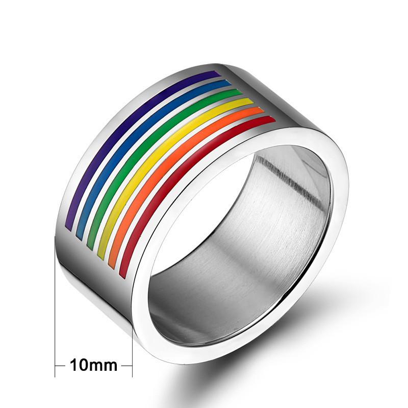 Rainbow Promise Rings | Lesbian Gay Ring