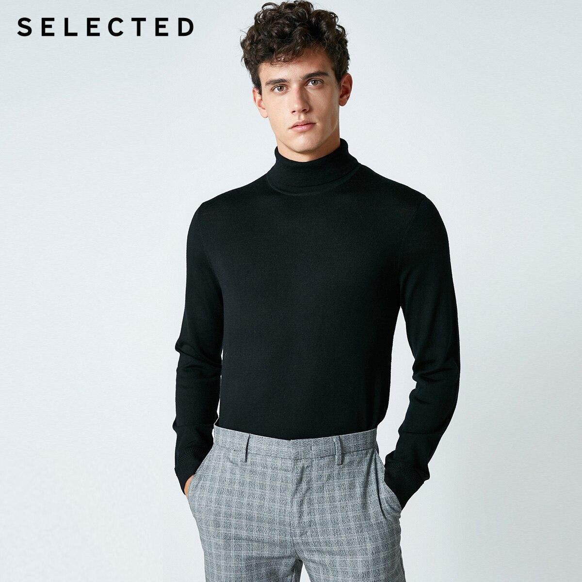 Selected blackrock의 새로운 남성 레저 이탈리아어 100% 울 스웨터 스웨터 s  418424502-에서풀오버부터 남성 의류 의  그룹 3
