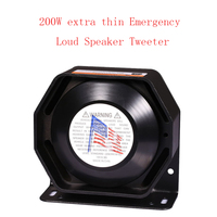 LARATH 200W For Police Siren Ultra Slim Loud 12V Alarm Siren Loud Warning Speaker Emergency Horn