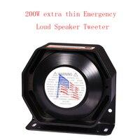 LARATH 200W for Police Siren Ultra Slim Loud 12V alarm Siren Loud warning Speaker Emergency horn Black Metal