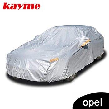 Kayme aluminium Waterproof car covers super sun protection dust Rain car cover full universal auto suv protective for Opel