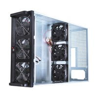4U Mining Case Frame Fit For 6/8 Graphics Card Steel Open Air Mining Server Chassis With 6 Fans For ETH/BTC/LTC/ETC Mining