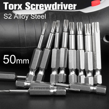 цена на 1Sets Length Magnetic Torx Screwdriver Bits Set Electric Screw Driver Torx Head T6-T40 Screw Driver
