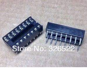 10PCS DIP 16 pins IC Sockets Adaptor Solder Type Socket Kit Good Quality Components 68