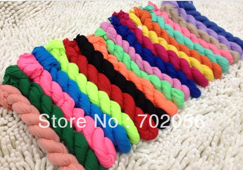 NEW voile Plain color Neck scarf solid color SCARVES wrap scarves shawls gift 160*50cm 100pcs/lot #3001