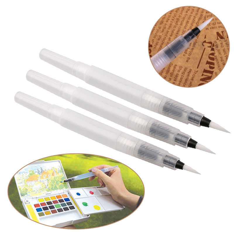 1 PC Refillable Water Brush Ink Pen For Water Color Painting Illustration Calligraphy Marker Pen School Art Supplies Stationery
