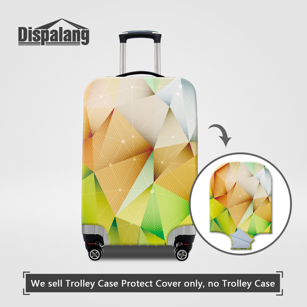 Dispalang newest thick elastic luggage protector cover for 18-30 inch trolley cae 3D diamond geometric printing rain dust covers