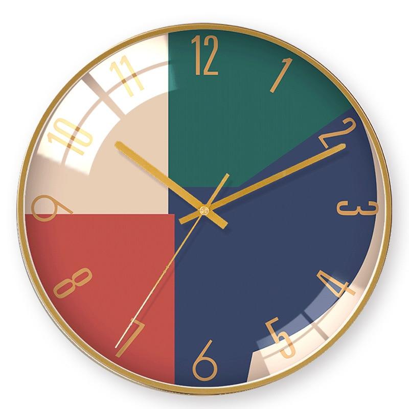 Heat! Nordic Simple Atmosphere Creative Round Wall Clock Modern Home Clock Study Mute Clock Fashion Decorative Quartz Clock