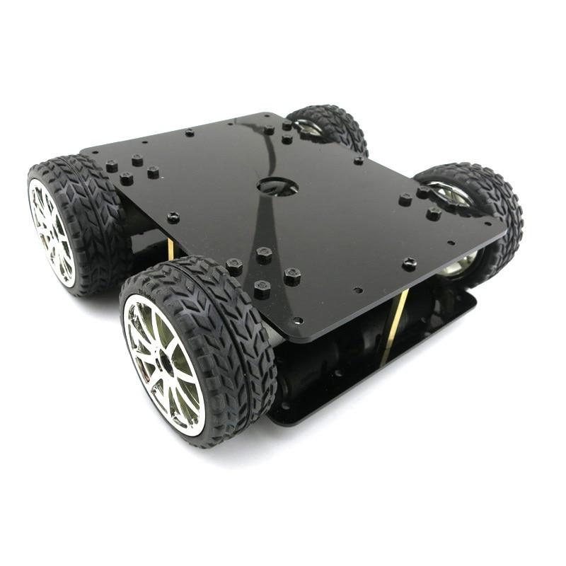 365A Car Four-wheel Drive Chassis Kit 4WD DIY Robot Model DIY Diecast Toy Vehicles в каких магазинах можно купить недорогие межкомнатные двери