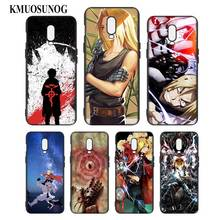 Silicone Case For OnePlus 5T 6 6T Printing Pattern Black Soft Phone Cover Anime FullMetal Alchemist  Style