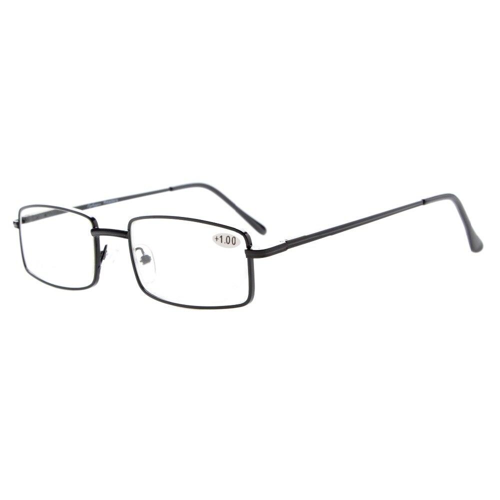 R15022 Eyekepper Readers Rectangular Spring Temple Medium Metal Reading Glasses+0.5/0.75/1/1.25/1.5/1.75/2/2.25/2.5/2.75/3/3.5/4