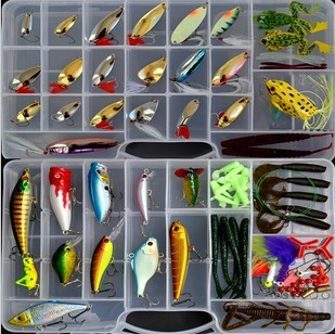 2017 New ! Promotion ! Hot sale ! best quality 106 pcs Fishing Lure set /Hard  /Soft  /Metal Lure kit Free Shipping best new product on sale 30